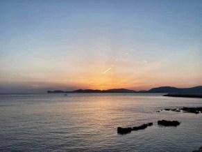 Alghero sunset view of Capo Caccia