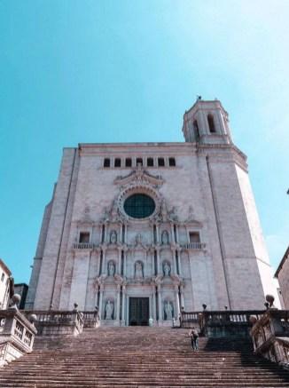 White church in Girona - best of Costa Brava