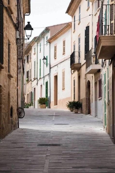 Alcudia streets in Mallorca