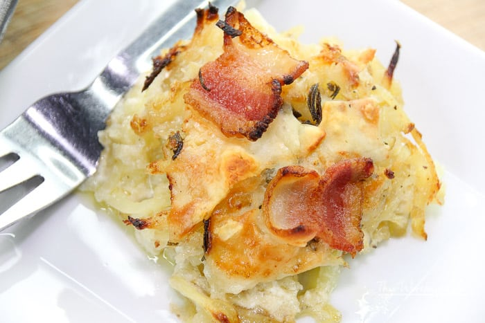This potato recipe is easy to make, filled with a ton of delightful cheeses, and a favorite during the holidays and Sunday dinners! Get our Au Gratin Potato Recipe on the blog!