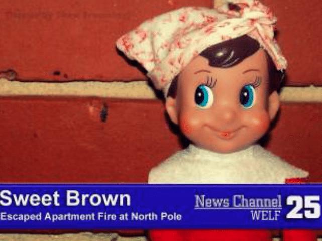 Elf on the shelf Sweet Brown