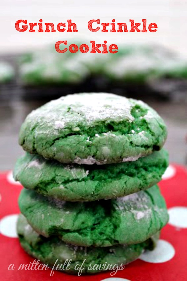Grinch Crinkle Cookie