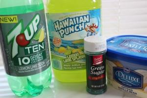 Grinch Punch ingredients