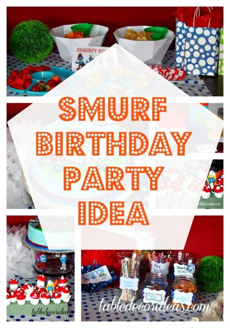 smurf birthday party idea