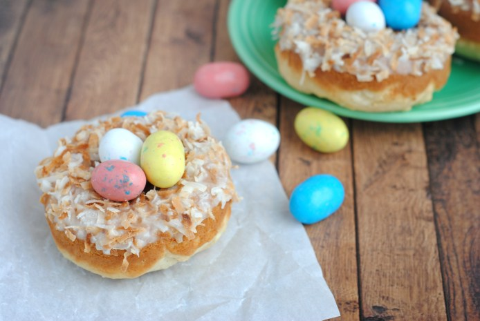 Baked Donut Nests for Easter Ingredients and Directions
