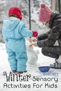 Winter Sensory Activities for Kids