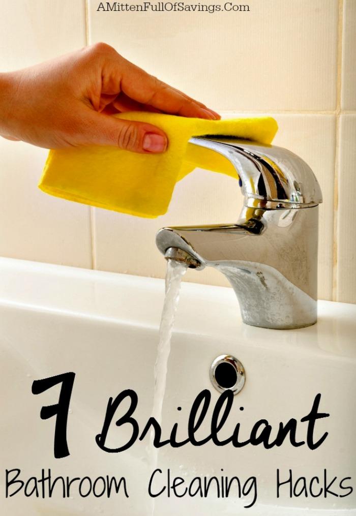 7 Brilliant Bathroom Cleaning Hacks