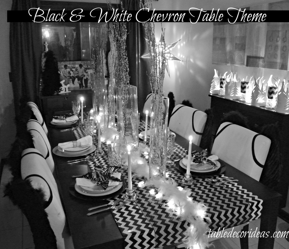 Take your Christmas Decor to new heights and style with this easy Chevron Black & White Christmas Theme