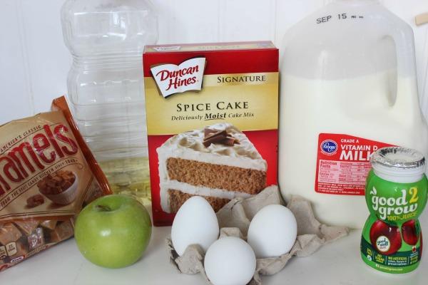 caramel apple cupcakes ingredients