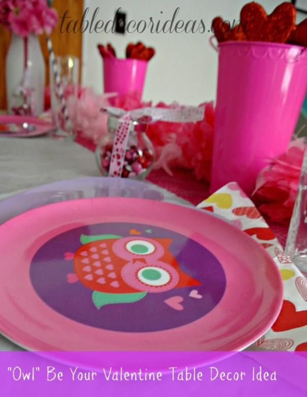 Easy Valentine Table Decor Idea