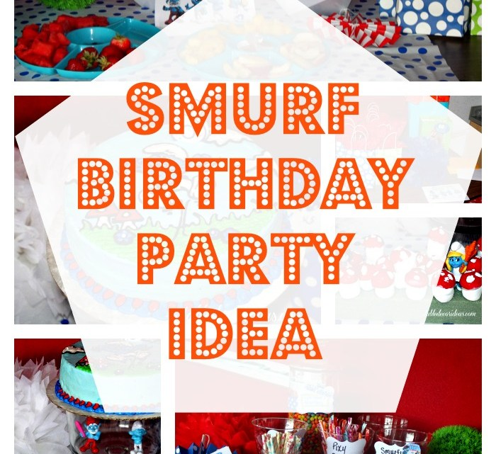 Have fun with a Smurf Birthday Party with these fun ideas- Smurf Birthday Party Ideas
