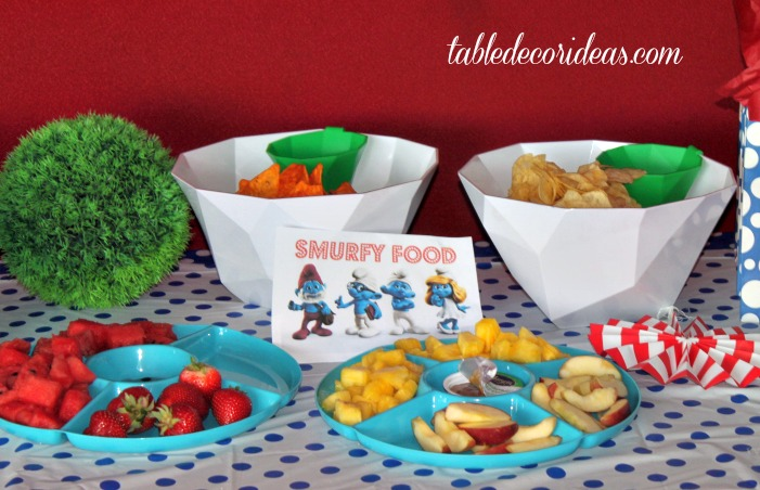 Smurf Birthday Party Food Ideas Theme