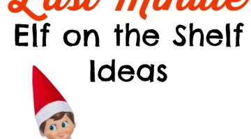 It's morning and you forgot to move the Elf again. Quick- here's 10 quick and easy last minute elf on the shelf ideas you can do. All 10 of these elf on the shelf ideas can be done in under 1-2 minutes! Pin it to your Christmas or Elf on the Shelf Pinterest board now!