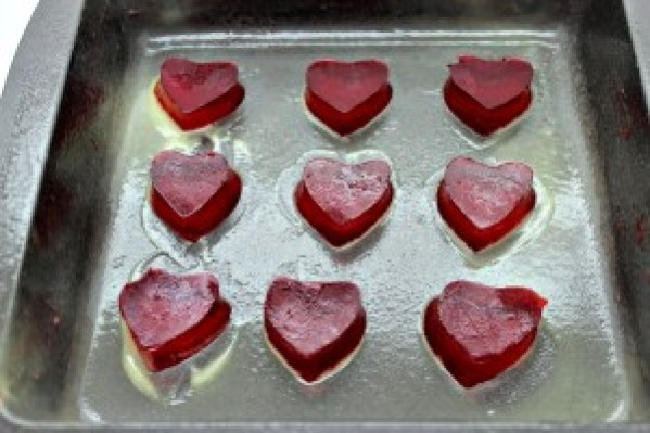 easy jello heart process