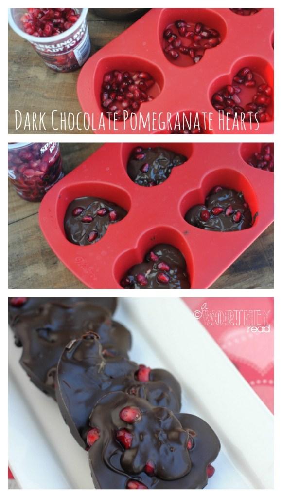 Dark Chocolate Pomegranate Hearts Recipe