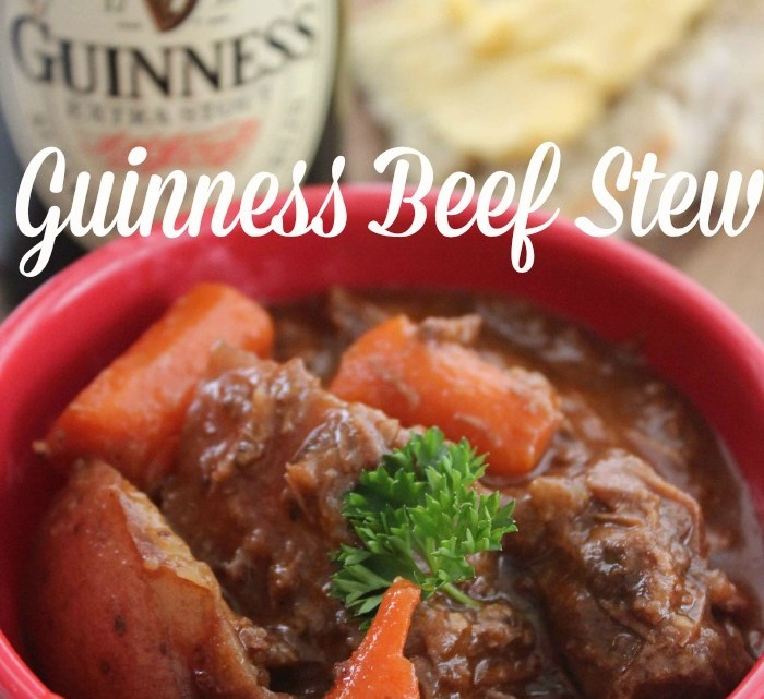 Easy recipe for Guinness Beef Stew