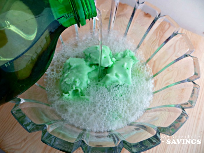 Lime Shamrock Punch In Process