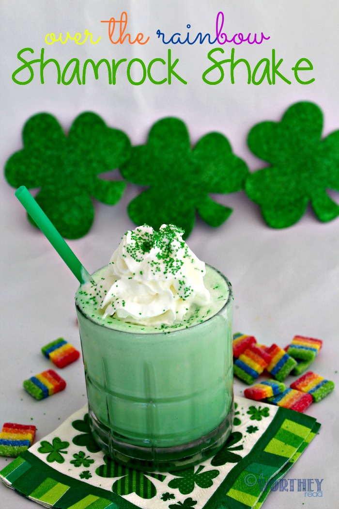 Easy St. Patrick's Day Drink Idea- Over The Rainbow Shamrock Shake