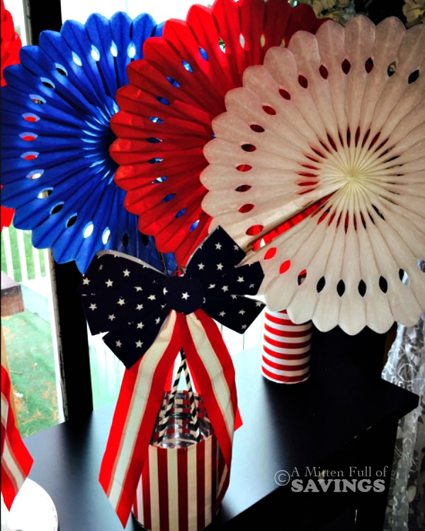 Red White Blue Centerpiece