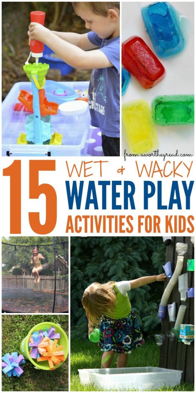 Summer Activities for kids don't have to break the bank! Let the kids have fun outside getting wet with these fun wet activities!
