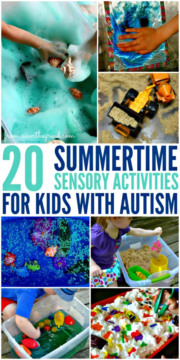 20 Summertime Sensorty Activites For Kids With Autism