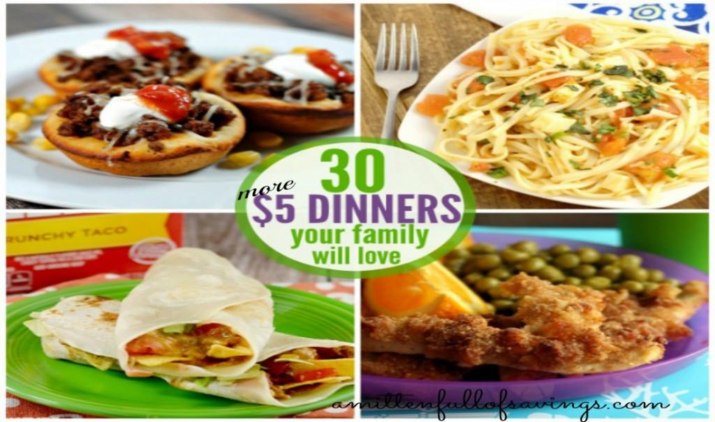 30 More Dinner Ideas Under $5 Bucks