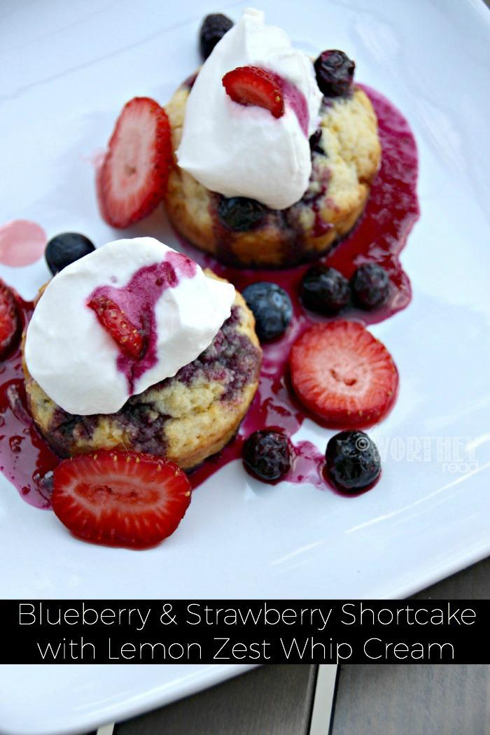 Homemade Strawberry Blueberry Shortcake