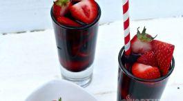 Strawberry Red Vodka Drink