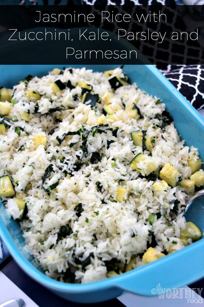Jasmine Rice with Zucchini, Kale, Parsley and Parmesan