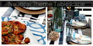 Nautical Theme Tablescape Idea