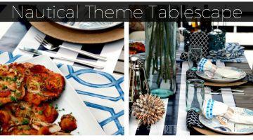 Nautical Theme Tablescape