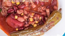 Homemade Chili Recipe and Cornbread Poppers