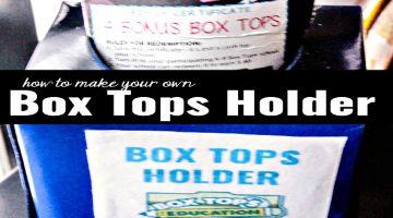 How To Make Box Tops Holder and Printable