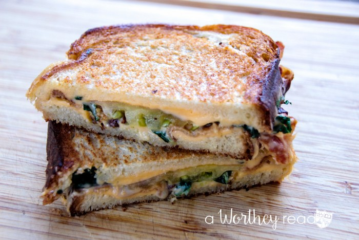 Grilled Cheese with Tomato, Zucchini & Bacon Sandwich