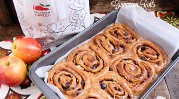 Apple & Cranberry Cinnamon Rolls