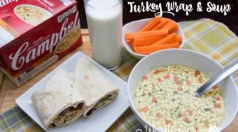 Quick & Easy Lunch Idea: Turkey Wrap & Soup