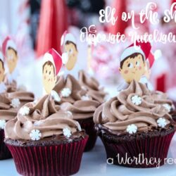 Elf on the Shelf Chocolate Nutella Cupcakes