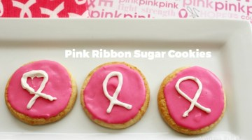 Pink Ribbon Sugar Cookies