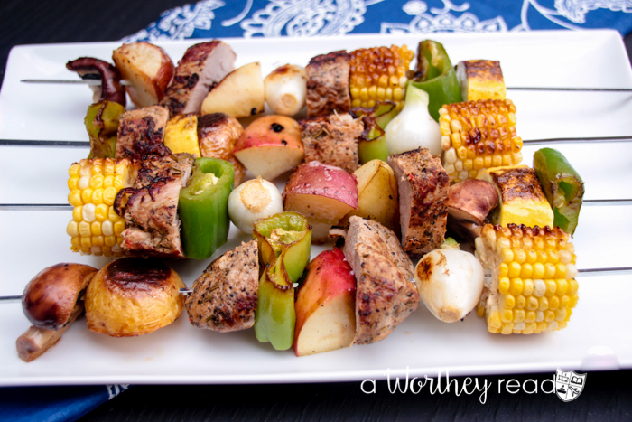Pork & Roasted Vegetables Kabobs