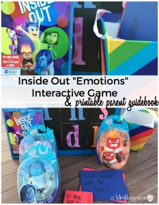 Using Disney's Inside Out Movie To Talk About Emotions {printable}