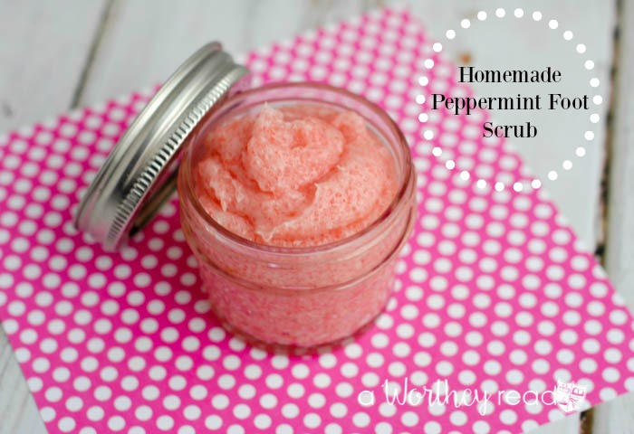 Homemade Peppermint Foot Scrub