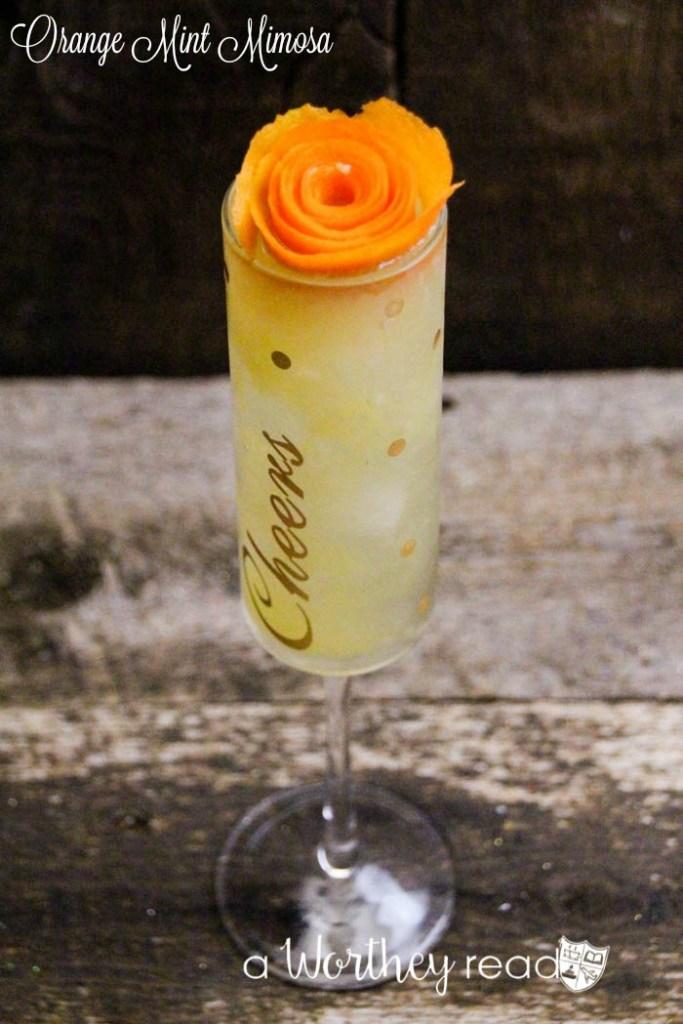 Cocktail Idea- Orange Mint Mimosa
