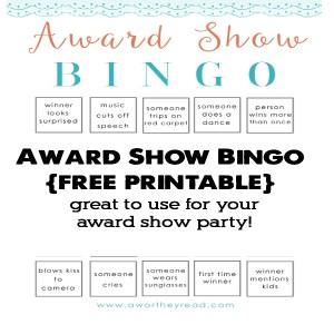 Award Show Bingo Printable {free printable}