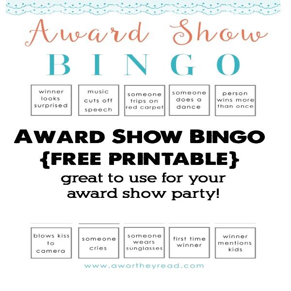 Award Show Bingo Printable1