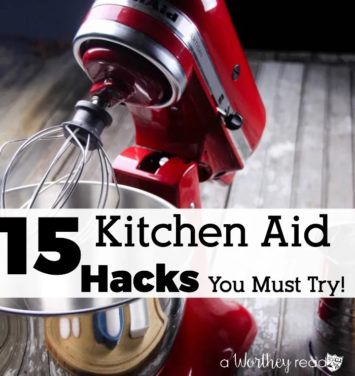 There are so many different things you can do with a Kitchen Aid Mixer, beside baking. Read 15 Kitchen Aid Hacks You Must try to find other ways to use your Kitchen Aid Mixer.