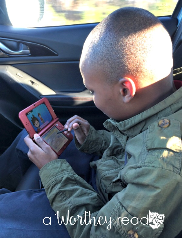 Zayd'n playing Yokai Watch