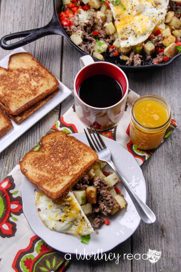Beef Breakfast Skillet Casserole-17