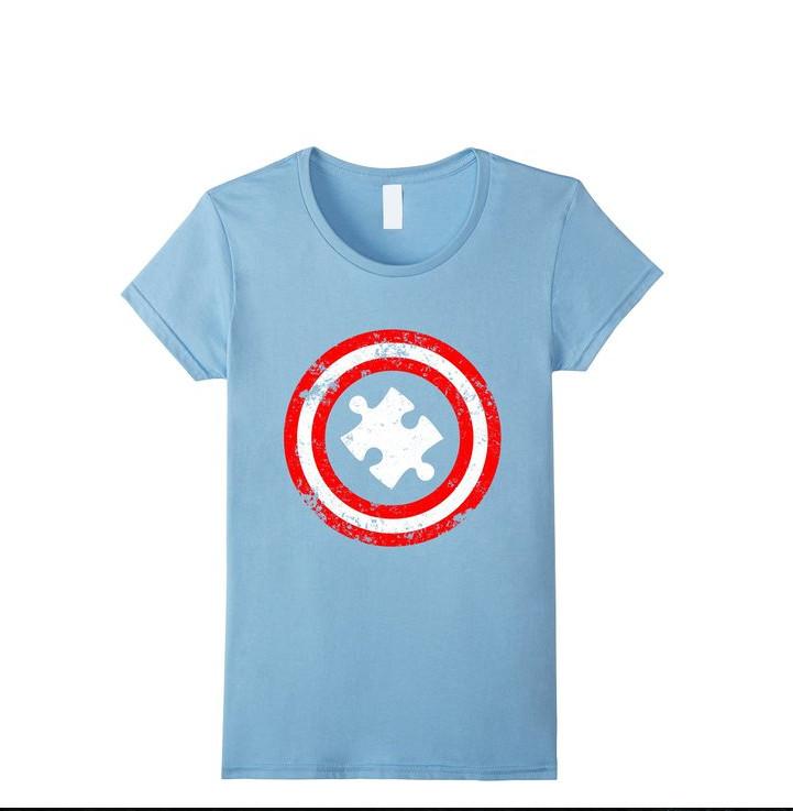 Autism Awareness T-shirt Captain Autism T-shirt