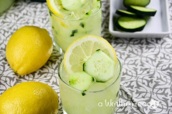 Lemon + Cucumber Lemonade Cocktail