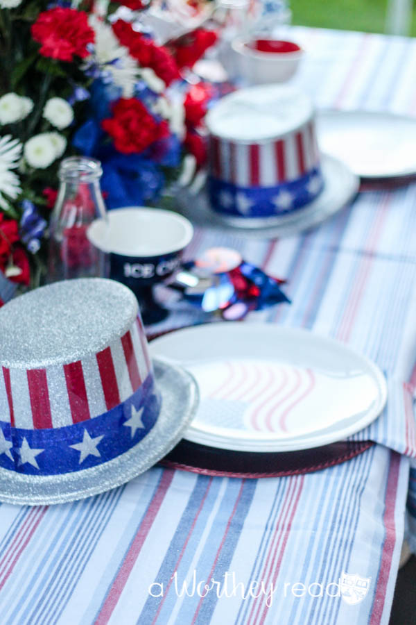 Red, White & Blue Outdoor Party Theme-13
